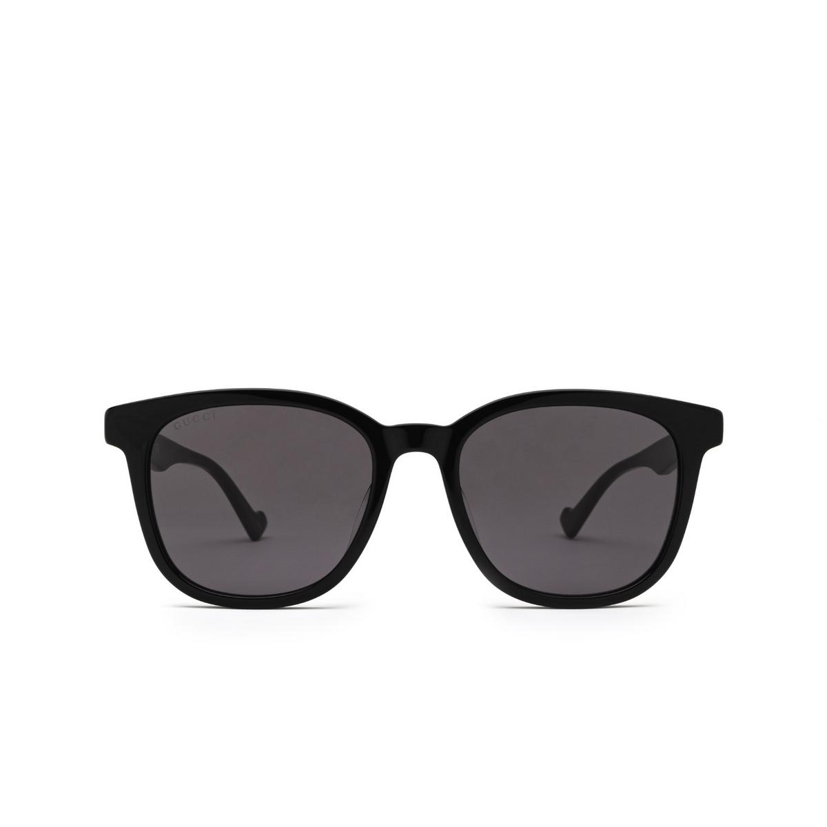 Gucci® Square Sunglasses: GG1001SK color Black 001 - front view.