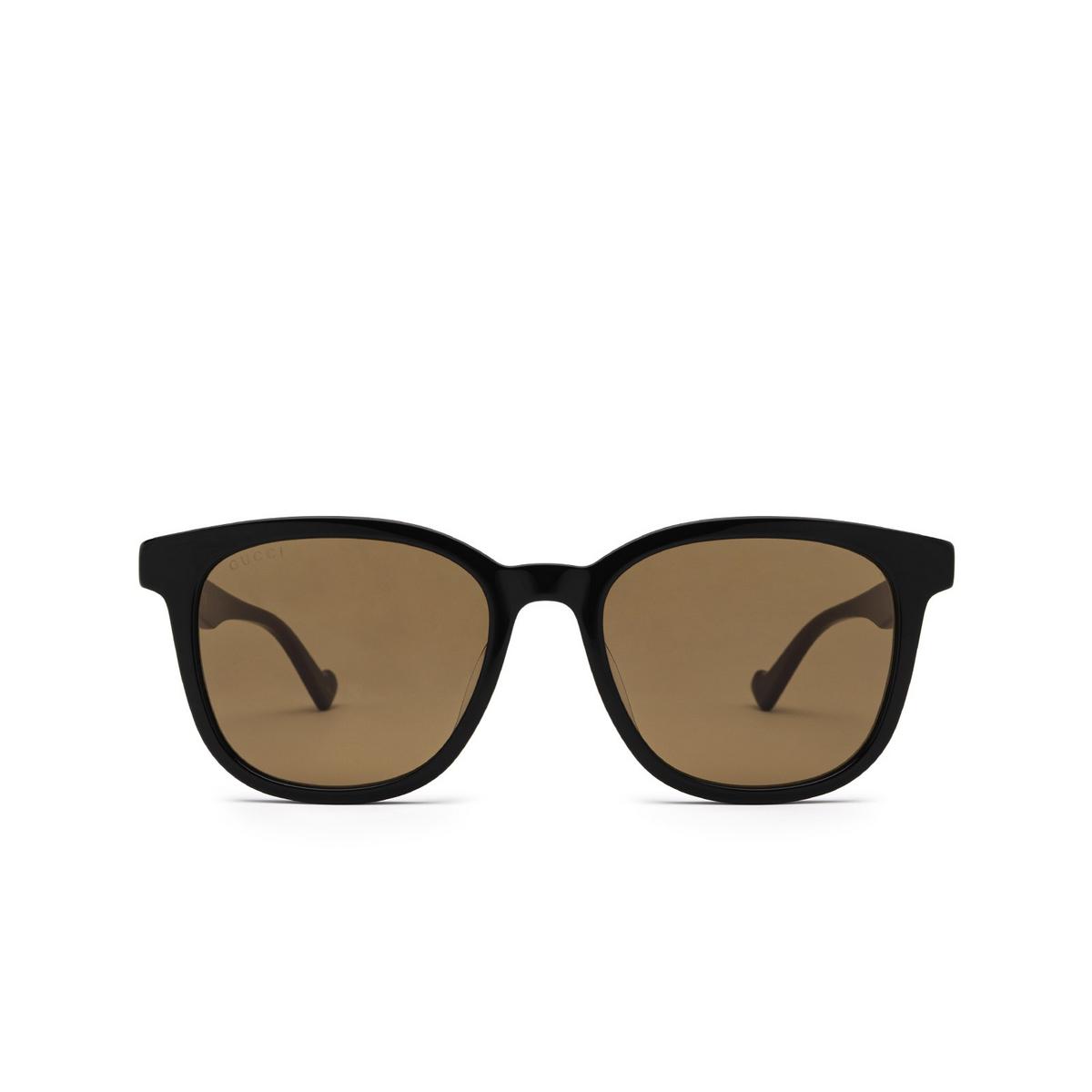 Gucci® Square Sunglasses: GG1001SK color Black 002 - front view.