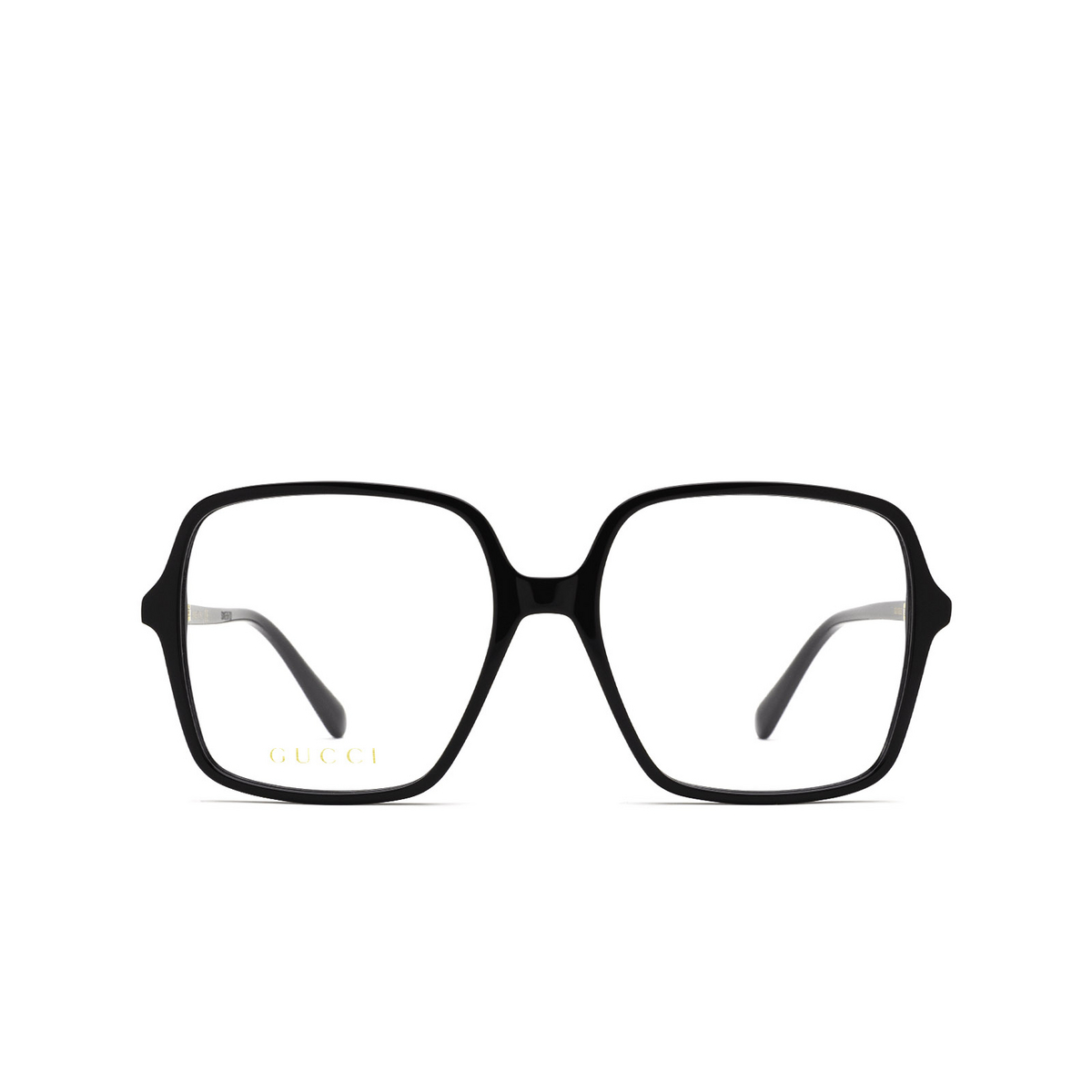 Gucci® Square Eyeglasses: GG1003O color Black 001 - front view.