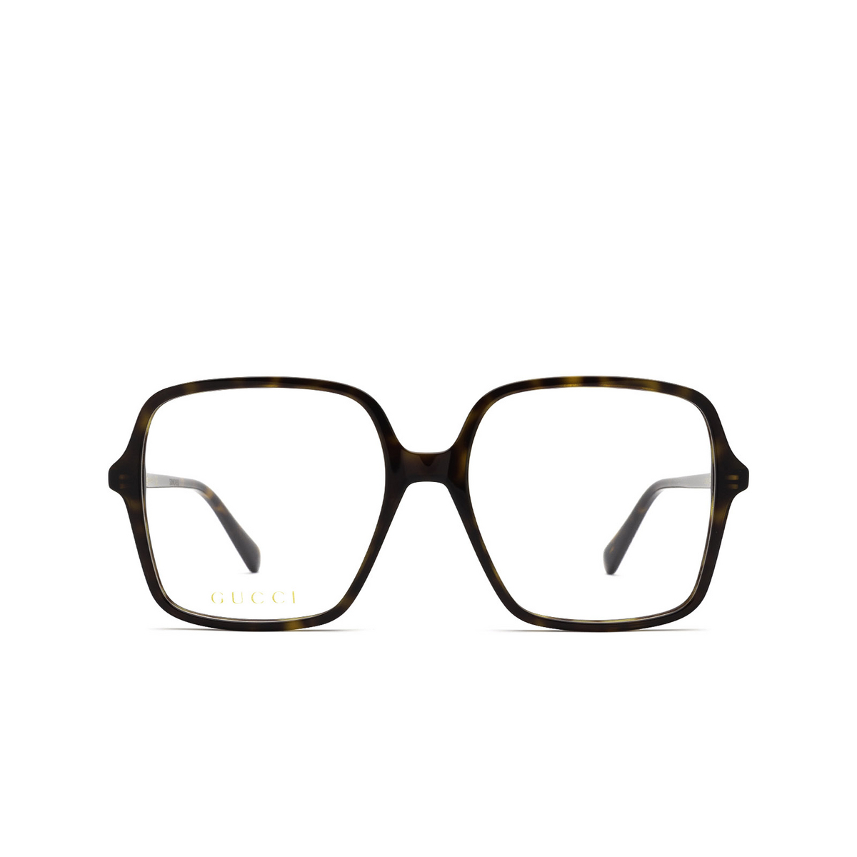 Gucci® Square Eyeglasses: GG1003O color Havana 002 - front view.