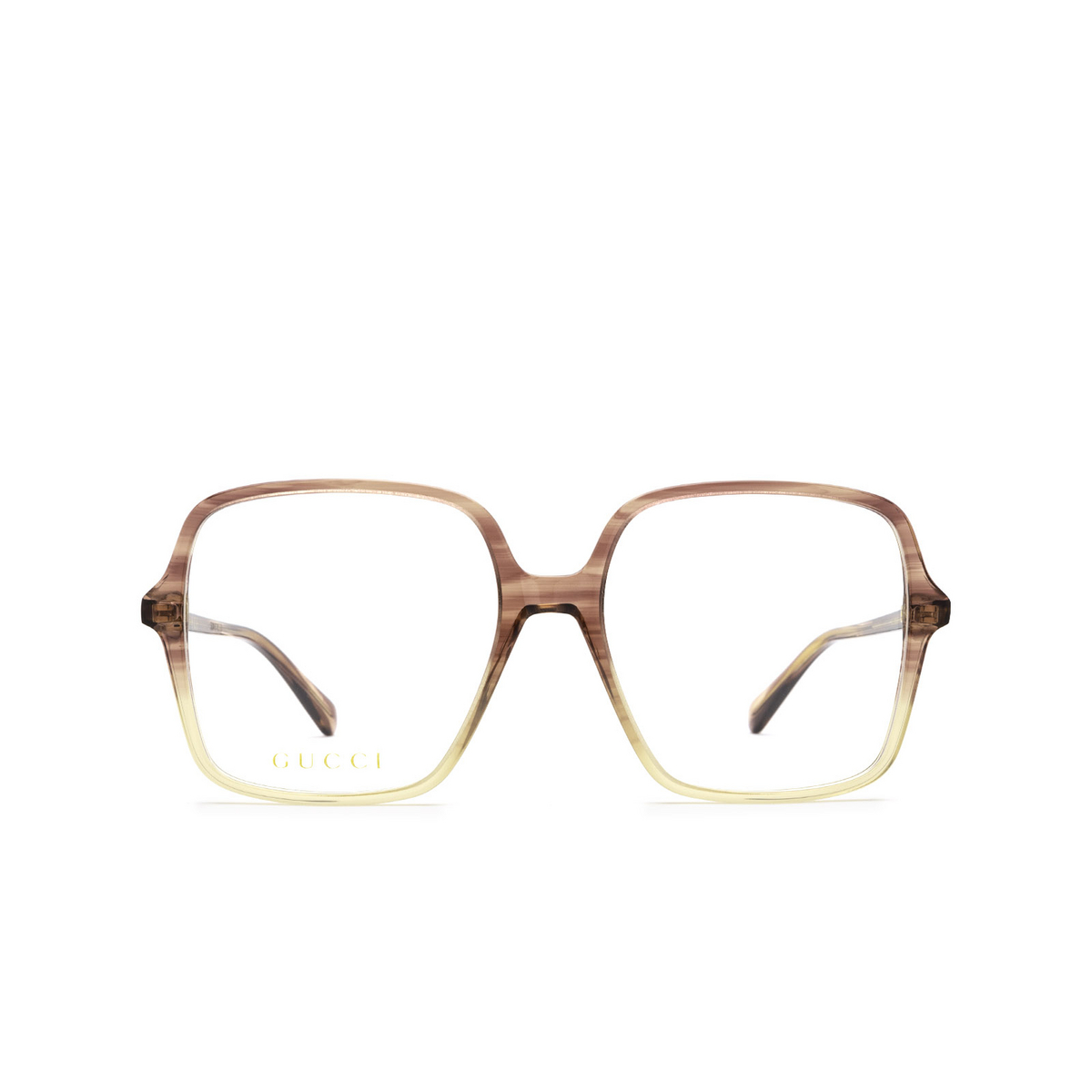Gucci® Square Eyeglasses: GG1003O color Red Gradient 004 - front view.