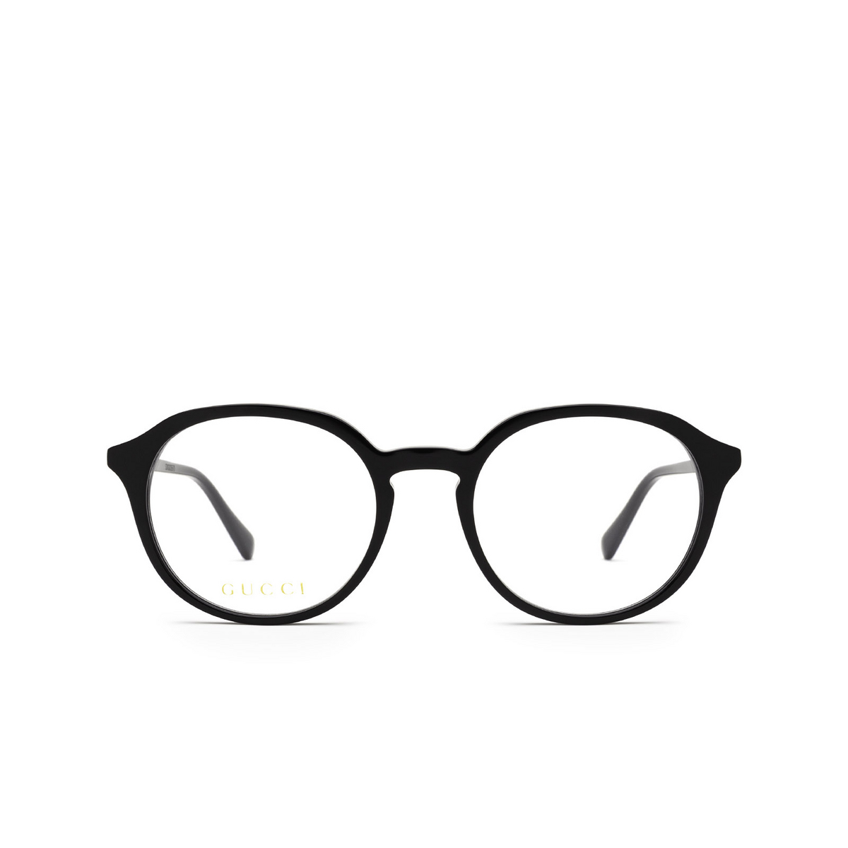 Gucci® Round Eyeglasses: GG1004O color Black 001 - front view.
