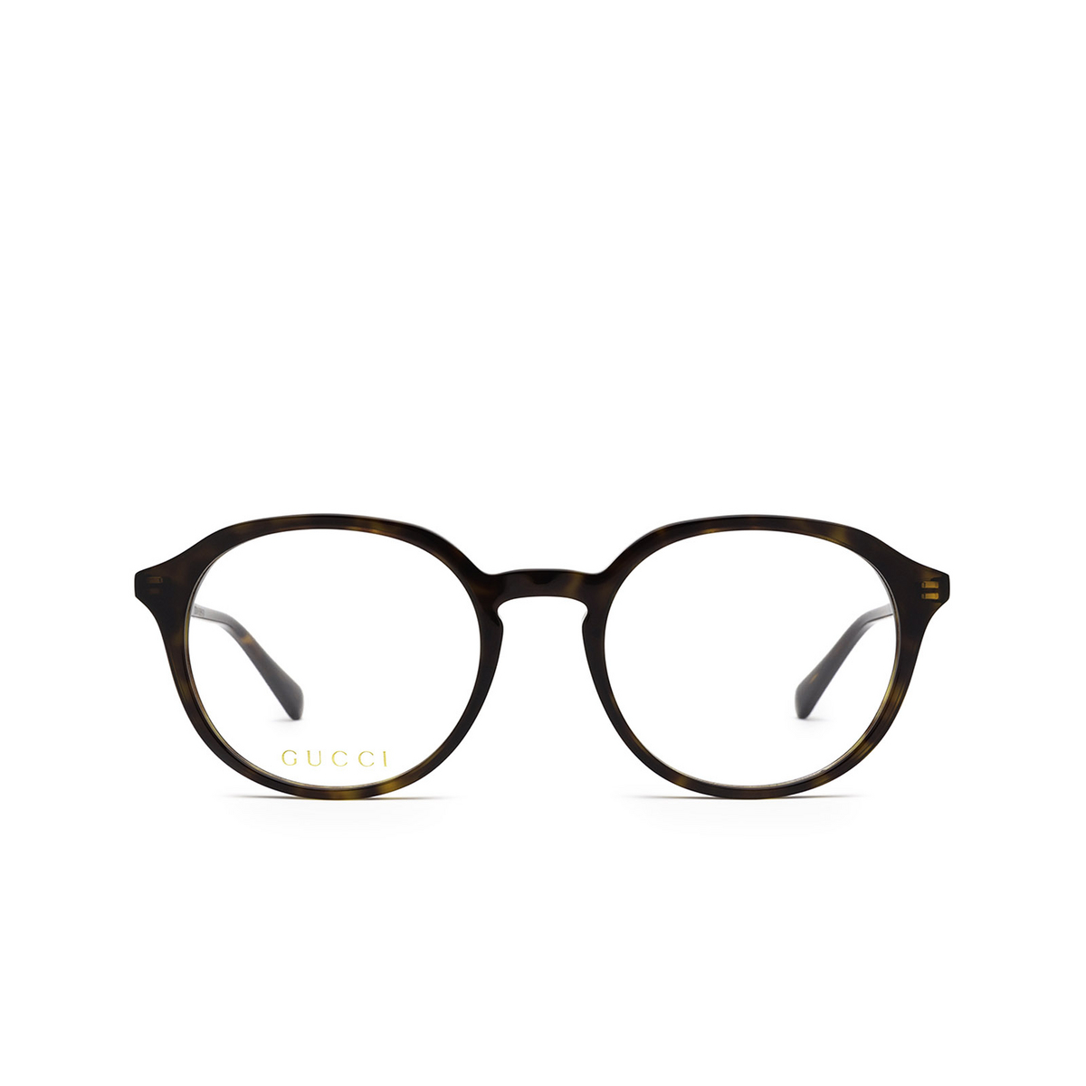 Gucci® Round Eyeglasses: GG1004O color Havana 002 - front view.