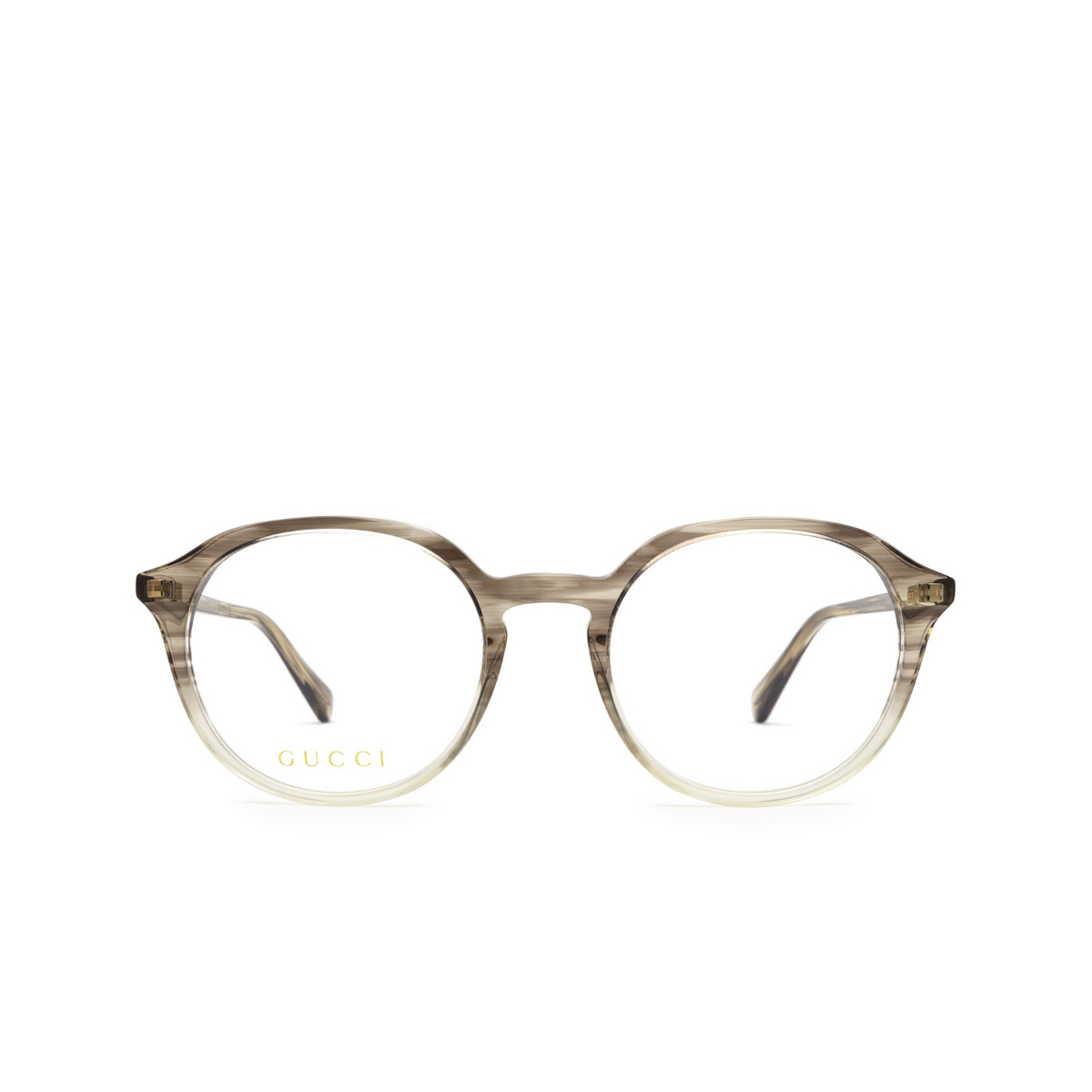 Gucci® Round Eyeglasses: GG1004O color Grey Gradient 003 - front view.