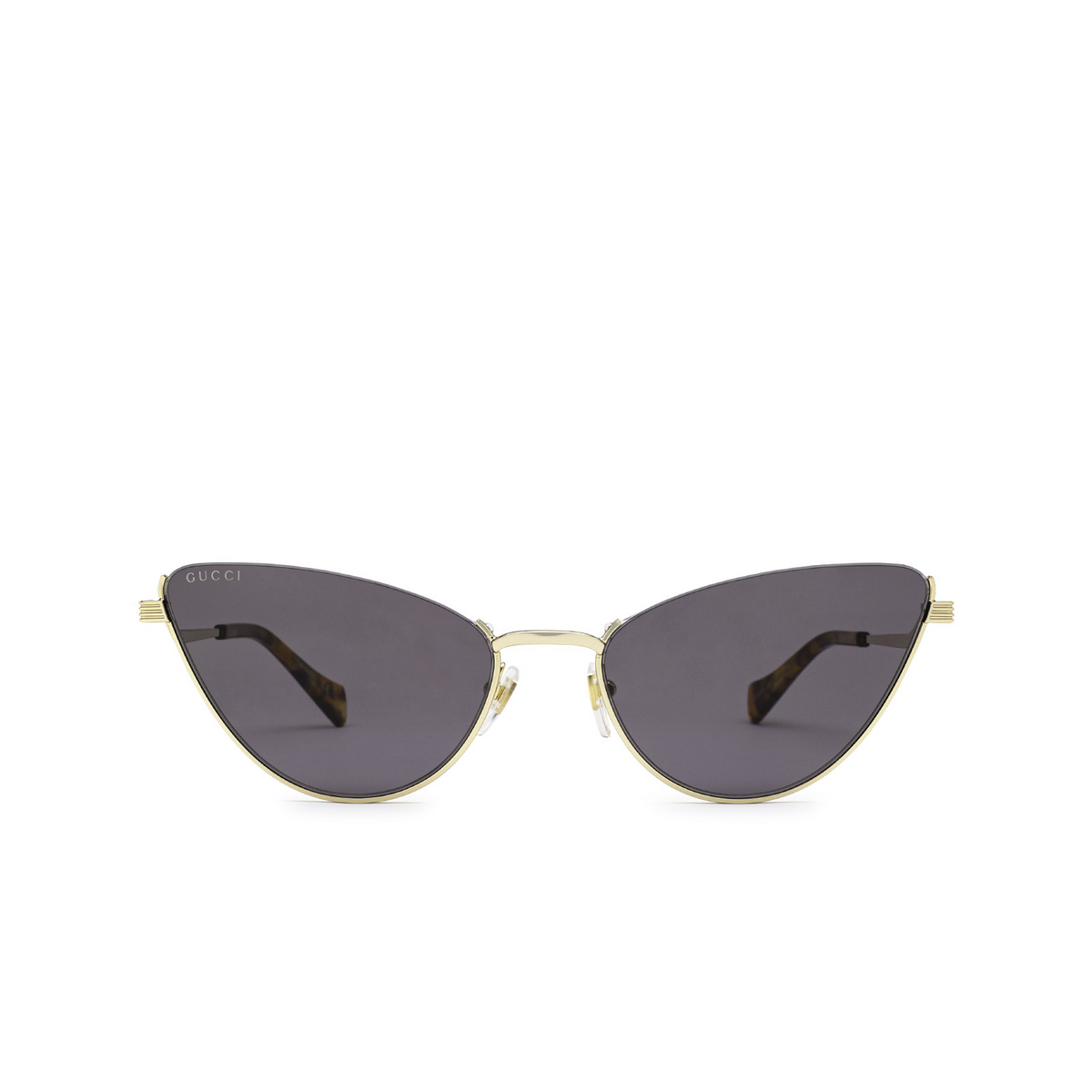 Gucci® Cat-eye Sunglasses: GG1006S color Gold 001 - front view.