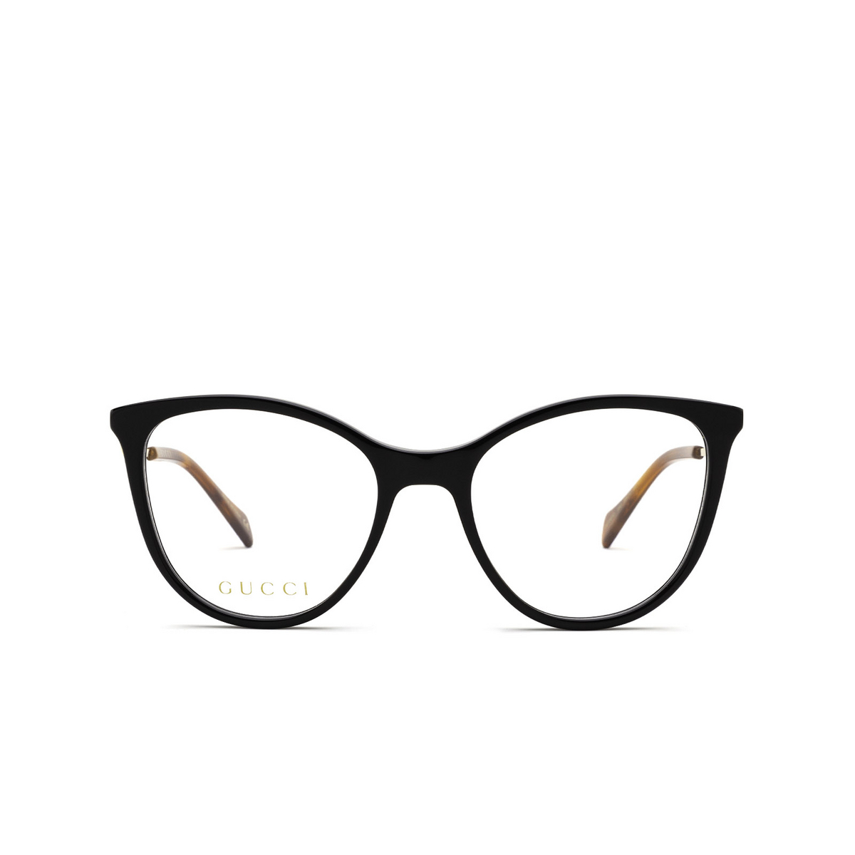 Gucci® Cat-eye Eyeglasses: GG1007O color Black 002 - front view.