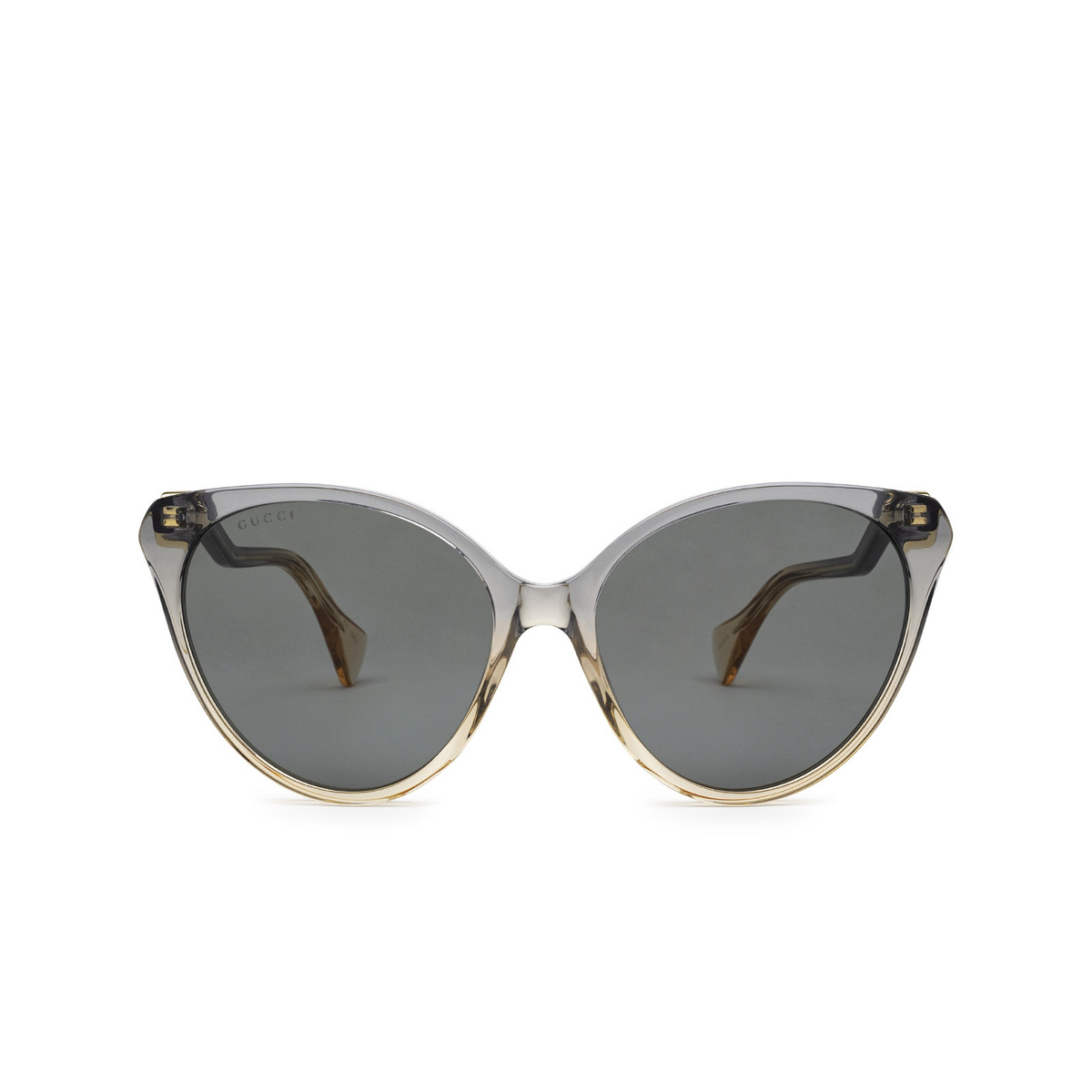 Gucci® Cat-eye Sunglasses: GG1011S color Blue & Pink 002 - front view.