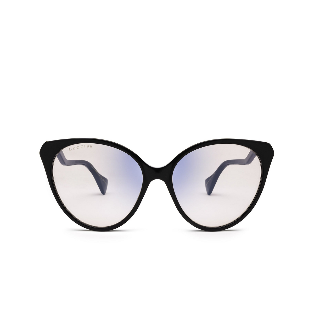 Gucci® Cat-eye Sunglasses: GG1011S color Black 005 - front view.