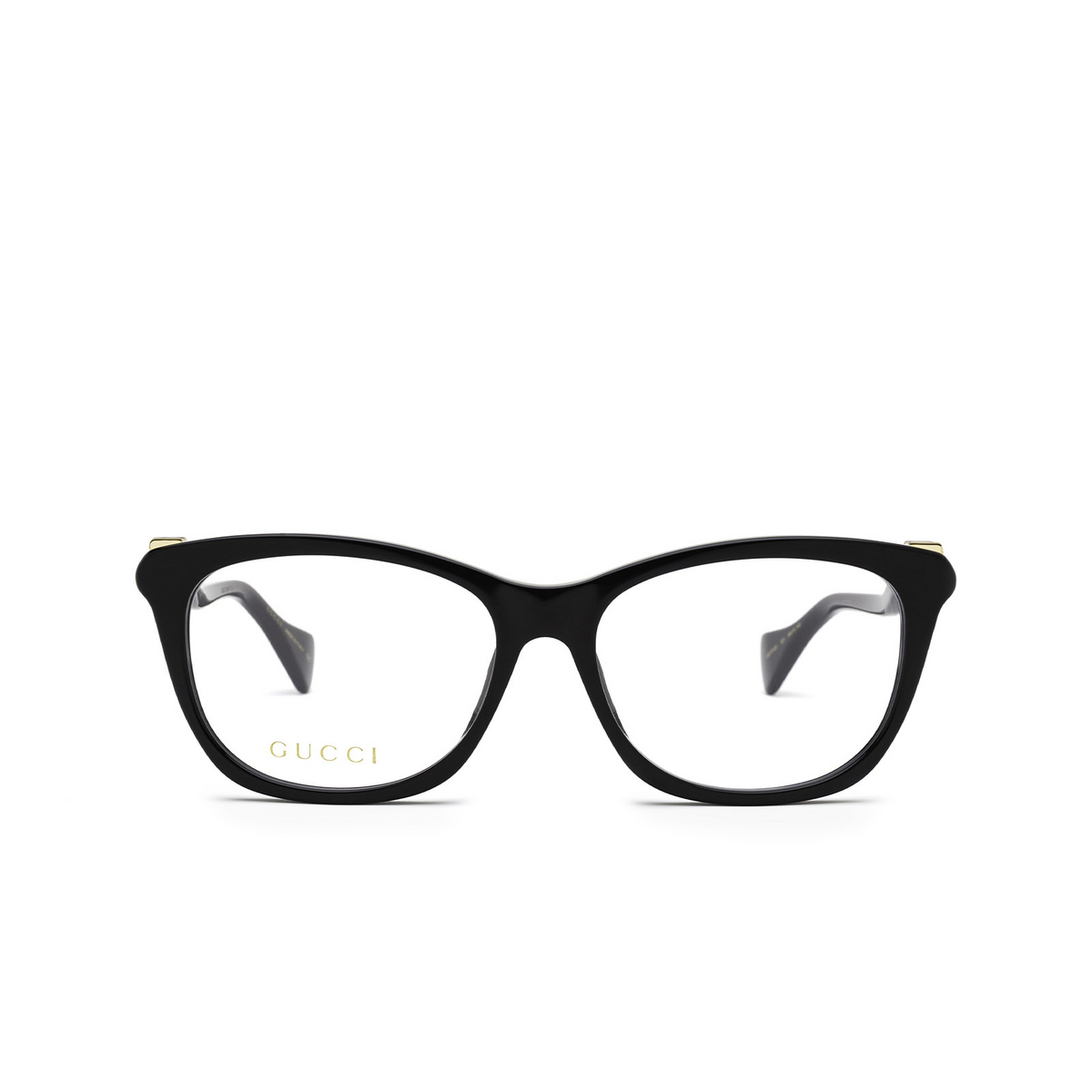 Gucci® Cat-eye Eyeglasses: GG1012O color Black 001 - front view.
