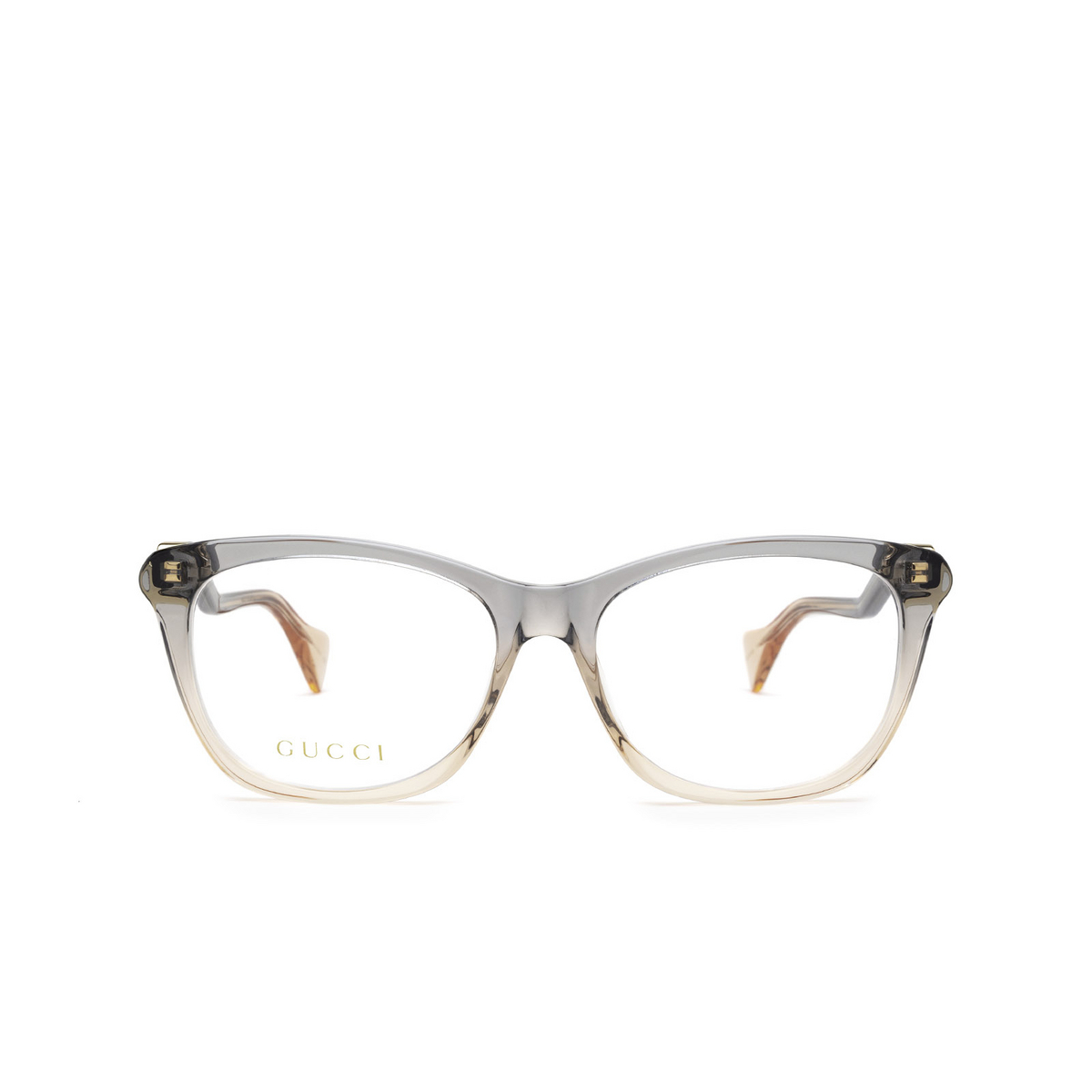 Gucci® Cat-eye Eyeglasses: GG1012O color Blue & Nude Pink 002 - front view.