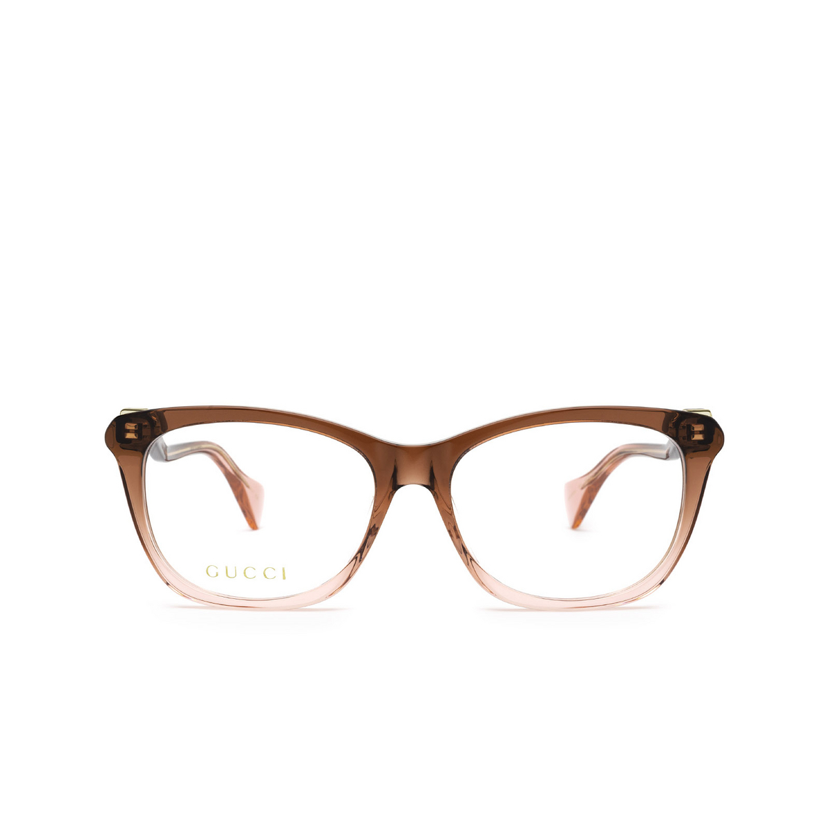 Gucci® Cat-eye Eyeglasses: GG1012O color Burgundy & Pink 003 - front view.