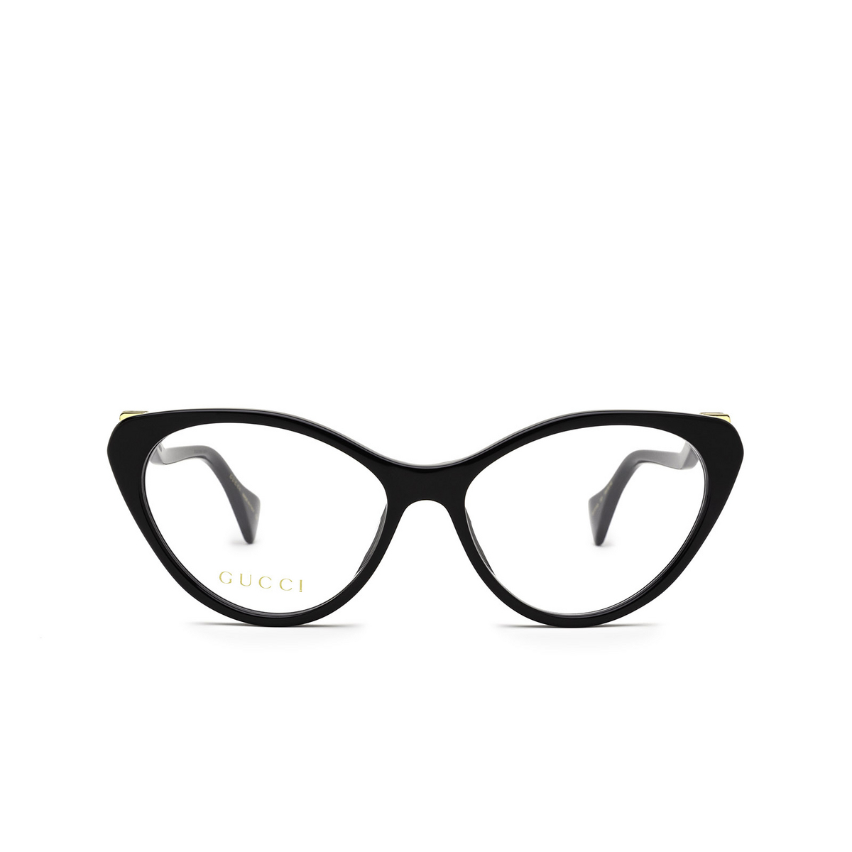 Gucci® Cat-eye Eyeglasses: GG1013O color Black 001 - front view.