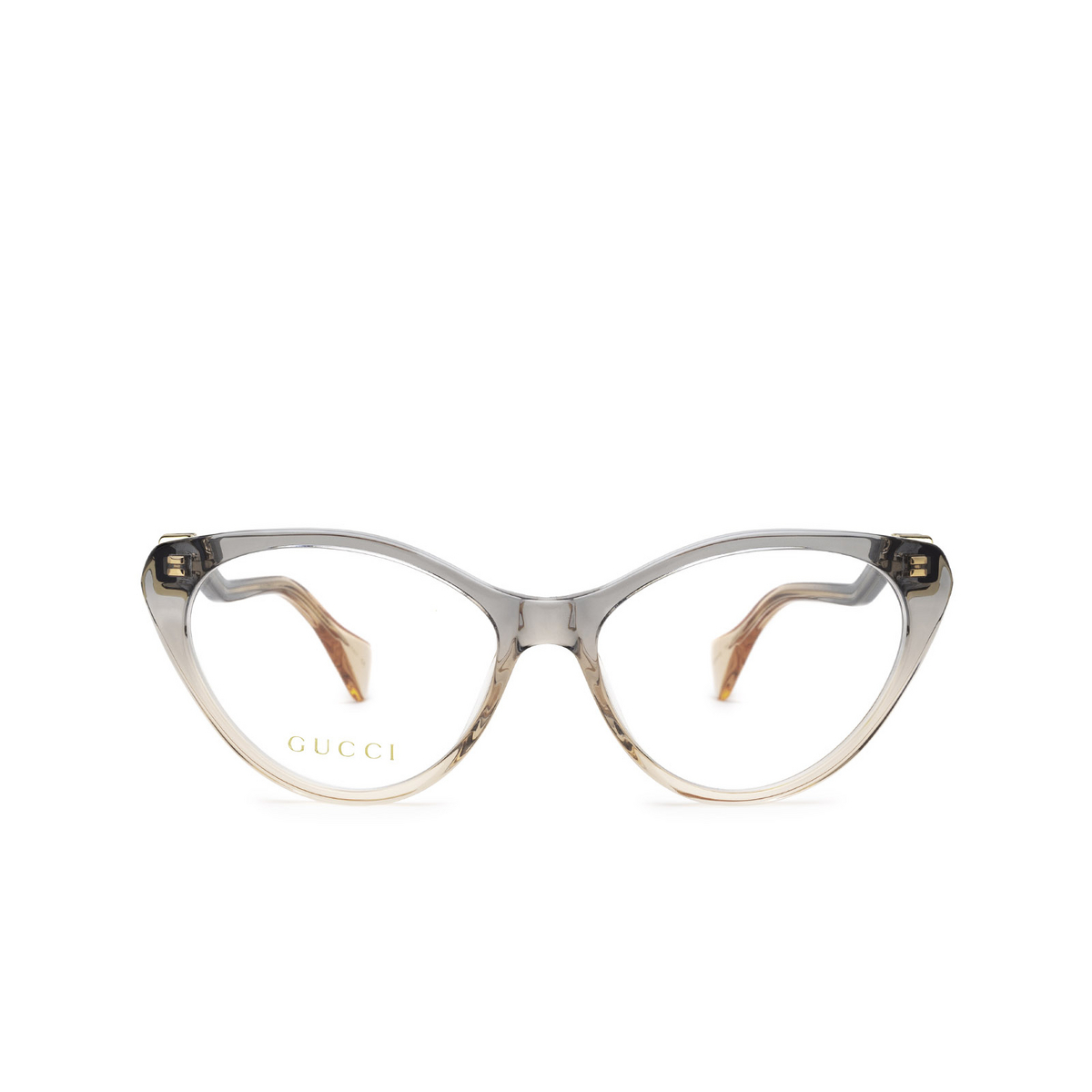 Gucci® Cat-eye Eyeglasses: GG1013O color Blue & Pink 002 - front view.