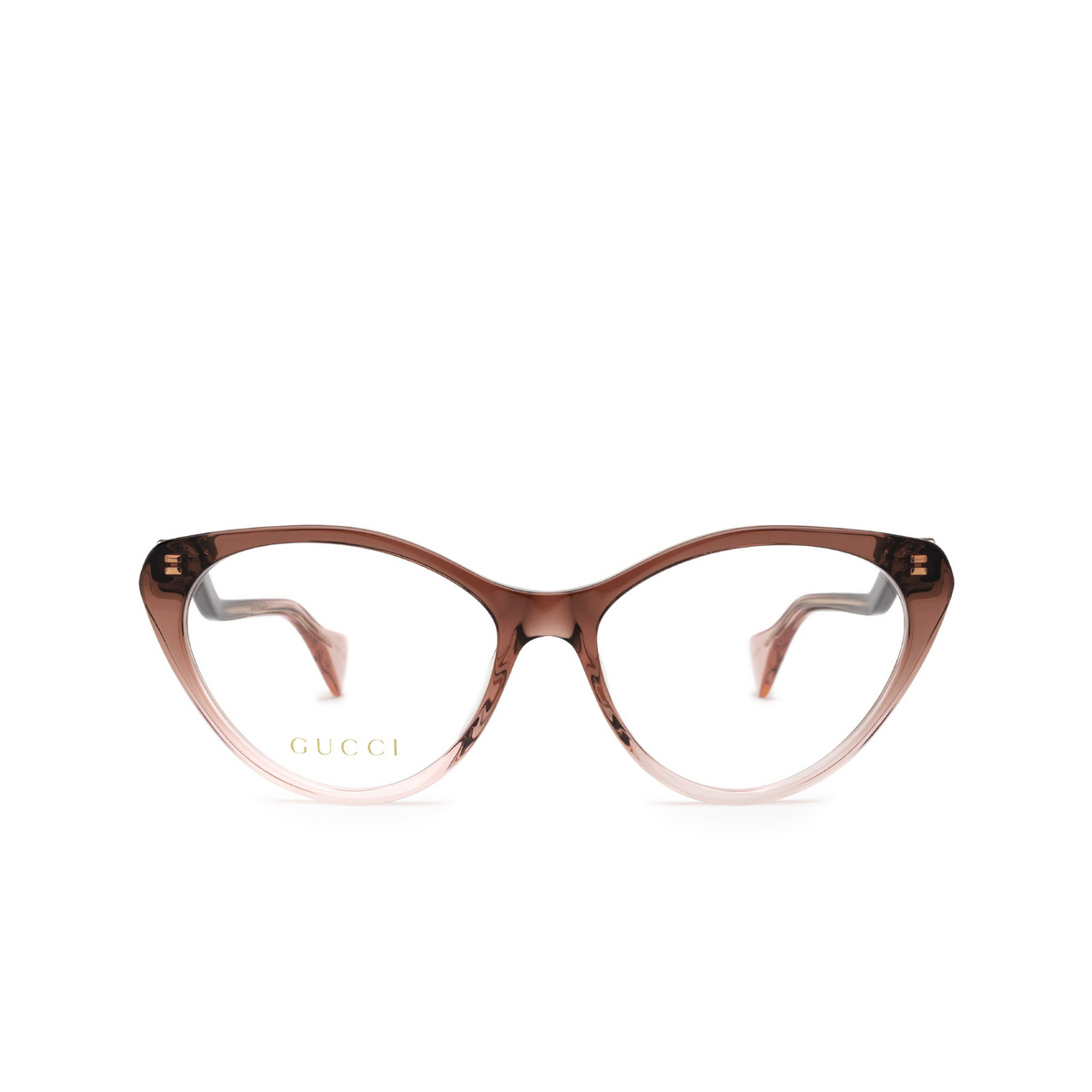 Gucci® Cat-eye Eyeglasses: GG1013O color Burgundy & Pink 003 - front view.
