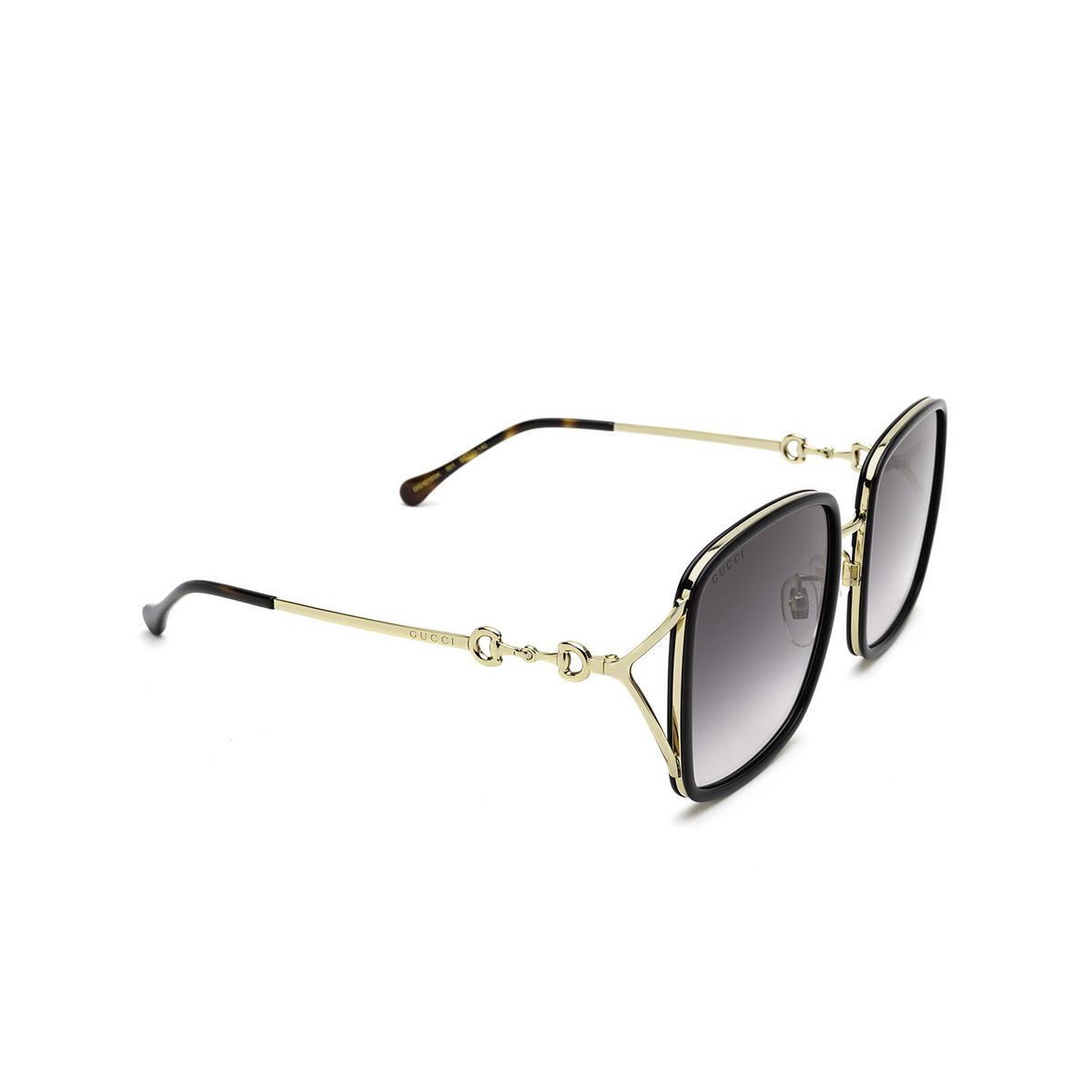 Gucci® Square Sunglasses: GG1016SK color Black 001 - 2/3.