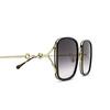 Gucci® Square Sunglasses: GG1016SK color Black 001 - product thumbnail 3/3.