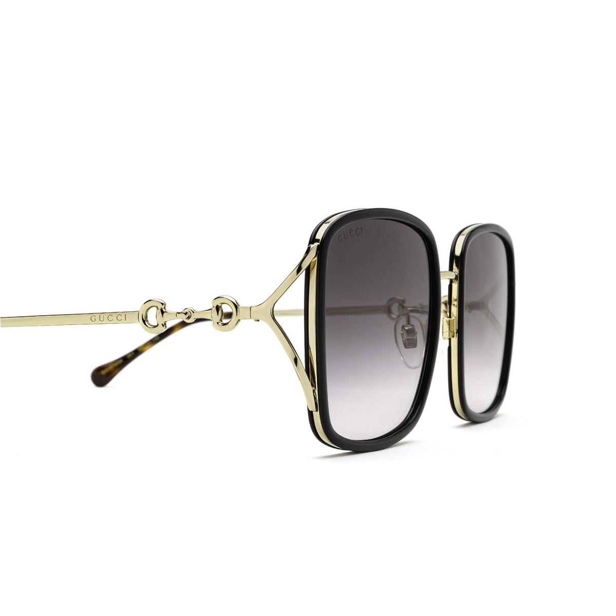 Gucci® Square Sunglasses: GG1016SK color Black 001 - 3/3.