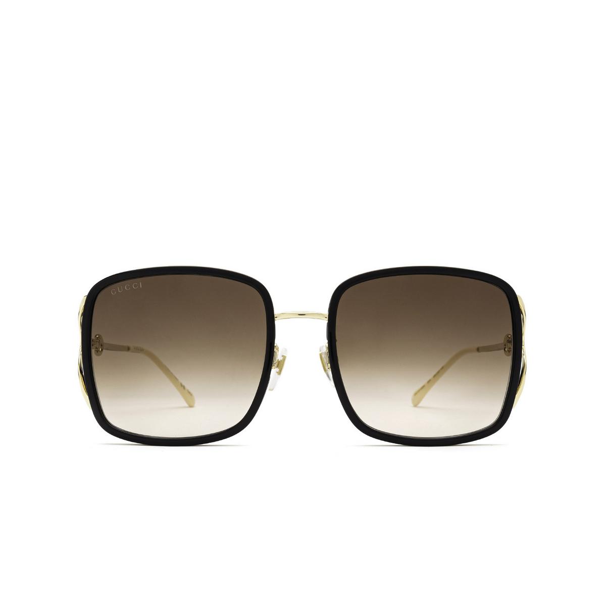 Gucci® Square Sunglasses: GG1016SK color Black 004 - front view.