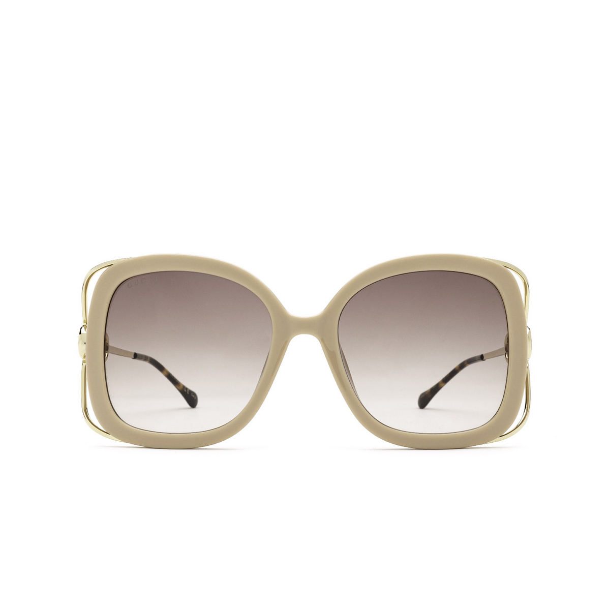 Gucci® Square Sunglasses: GG1021S color Ivory 003 - front view.