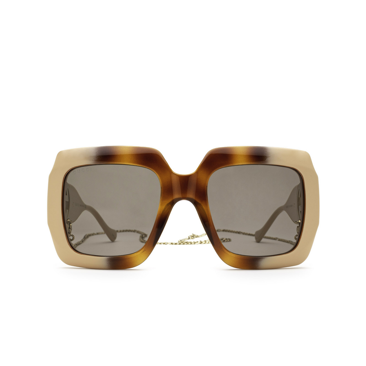 Gucci® Square Sunglasses: GG1022S color Havana Gradient 003 - front view.