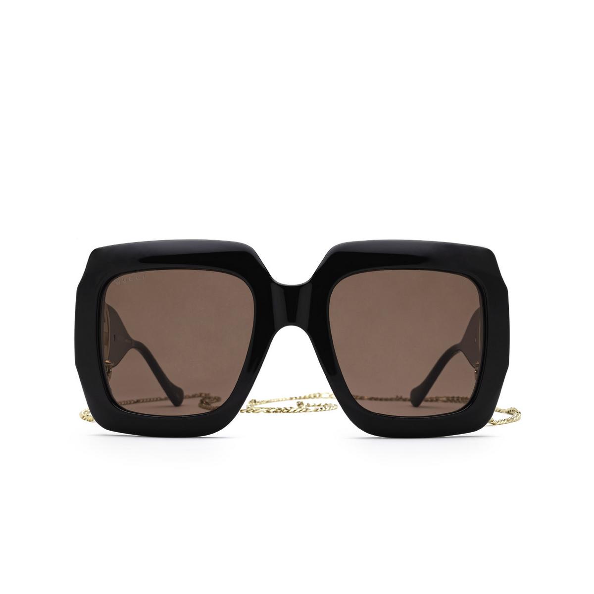 Gucci® Square Sunglasses: GG1022S color Black 005 - front view.
