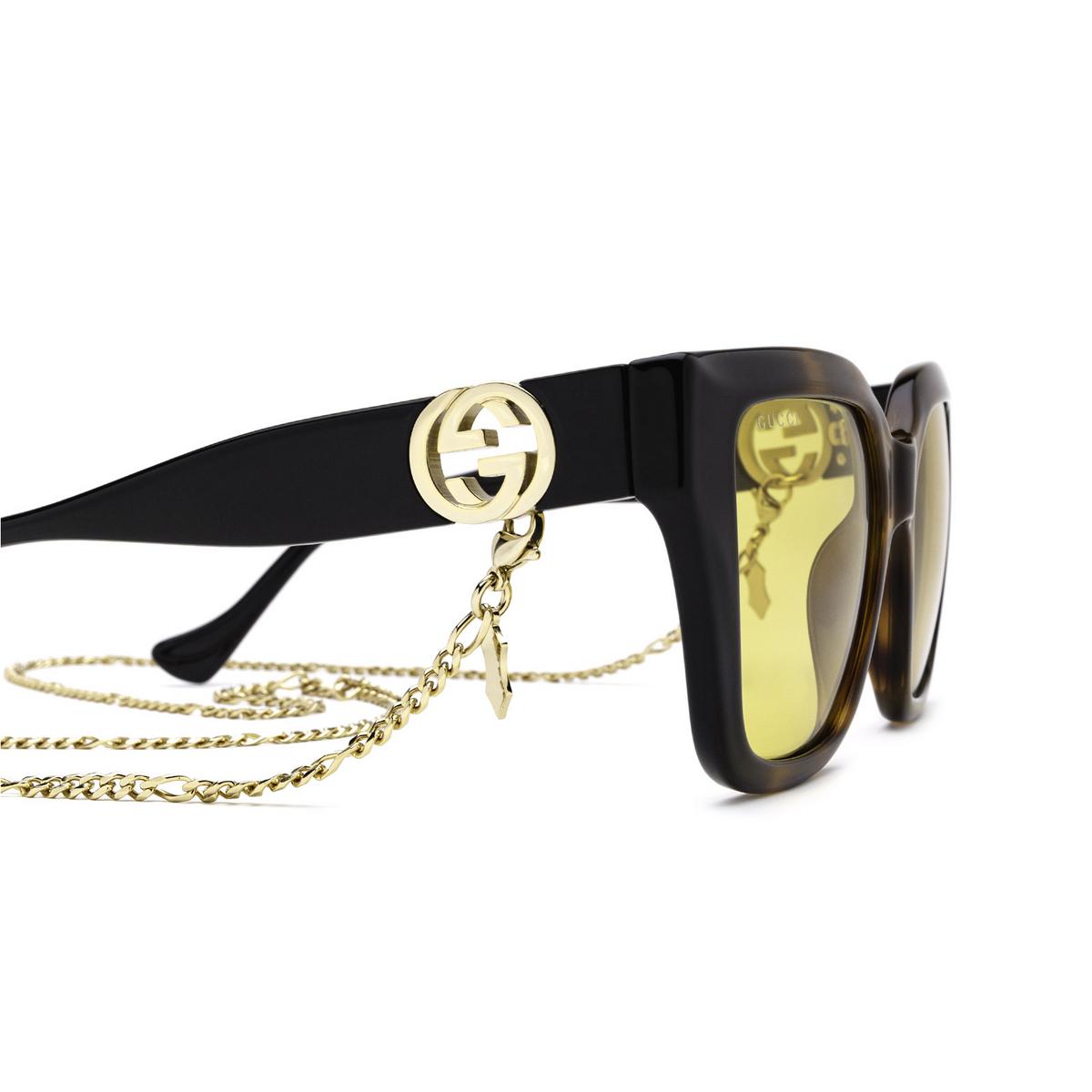 Gucci® Butterfly Sunglasses: GG1023S color Havana & Black 004 - 3/3.
