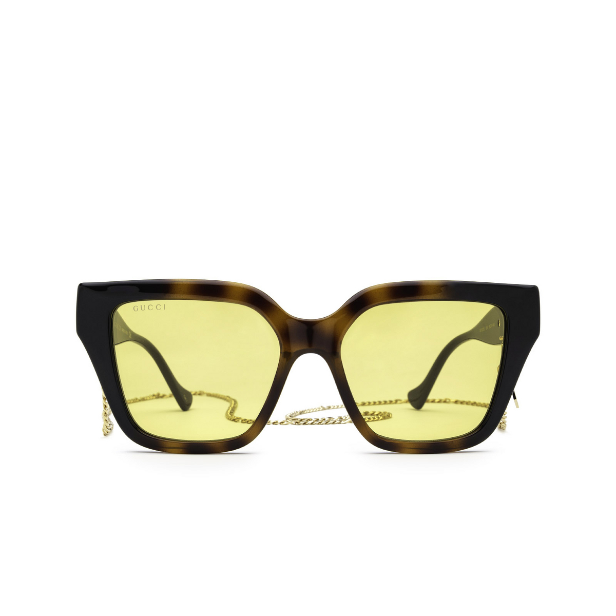 Gucci® Butterfly Sunglasses: GG1023S color Havana & Black 004 - front view.