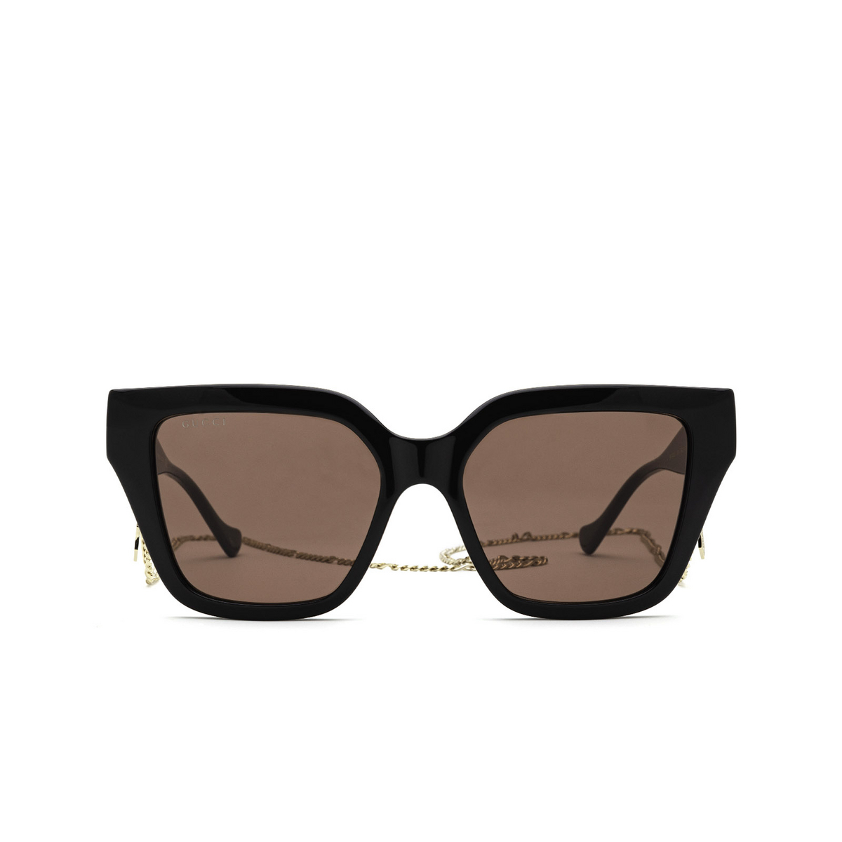 Gucci® Cat-eye Sunglasses: GG1023S color Black 005 - front view.