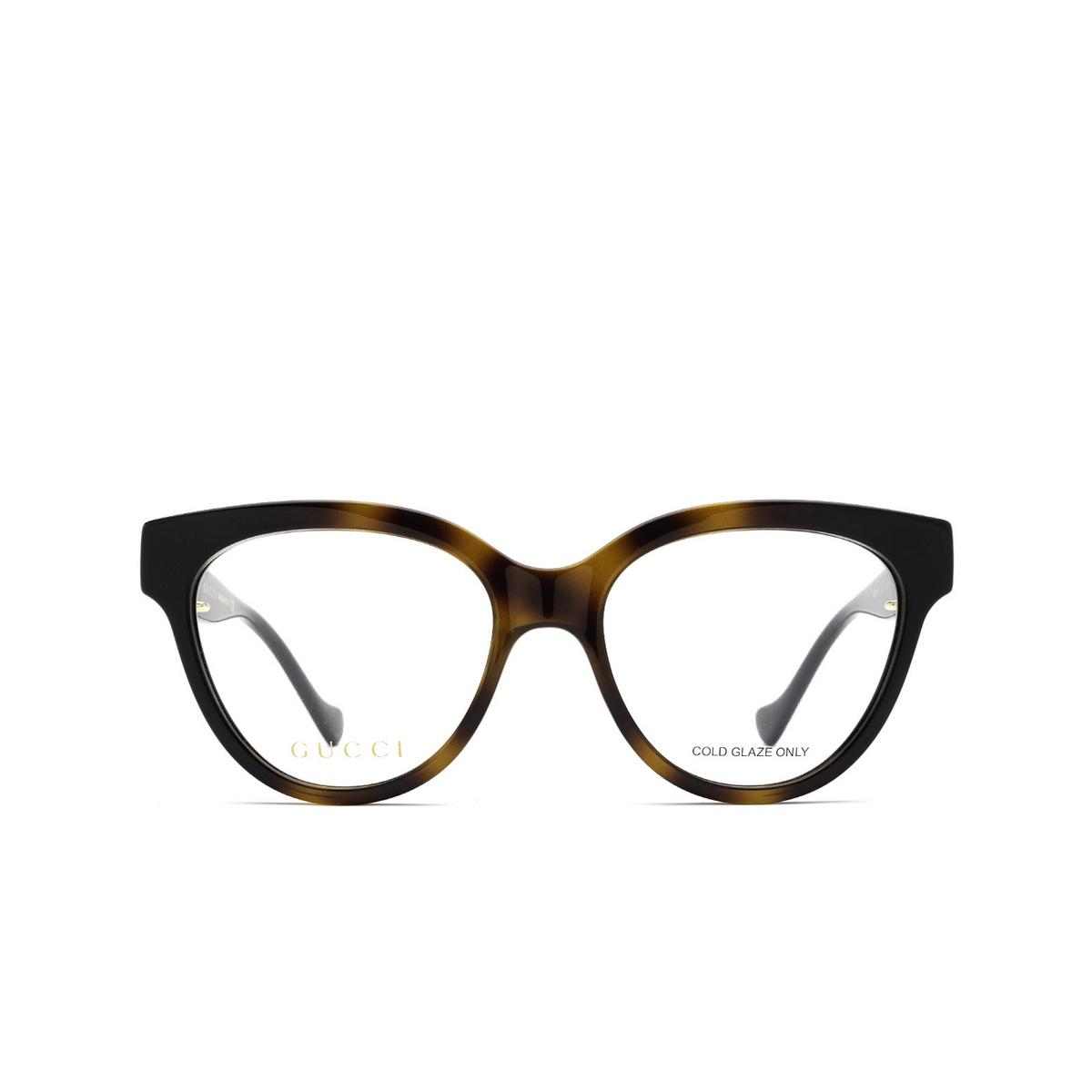 Gucci® Oval Eyeglasses: GG1024O color Black & Havana 002 - front view.