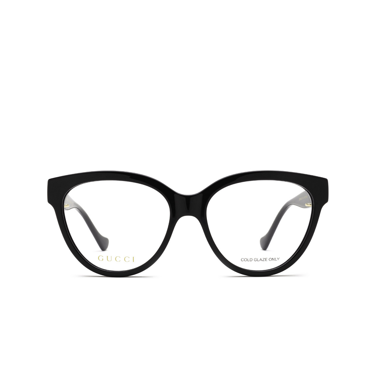 Gucci® Cat-eye Eyeglasses: GG1024O color Black 004 - front view.