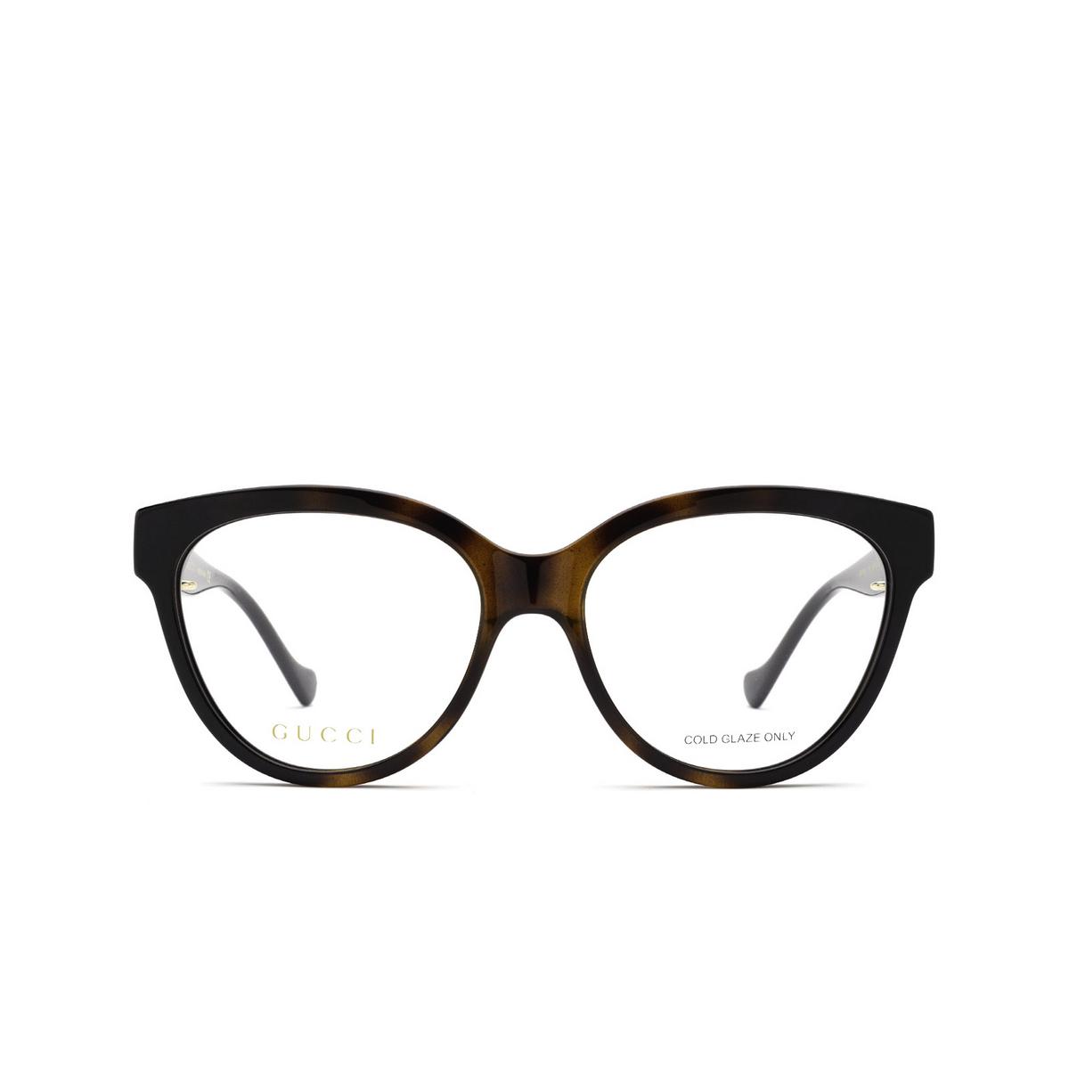 Gucci® Oval Eyeglasses: GG1024O color Black & Havana 005 - front view.