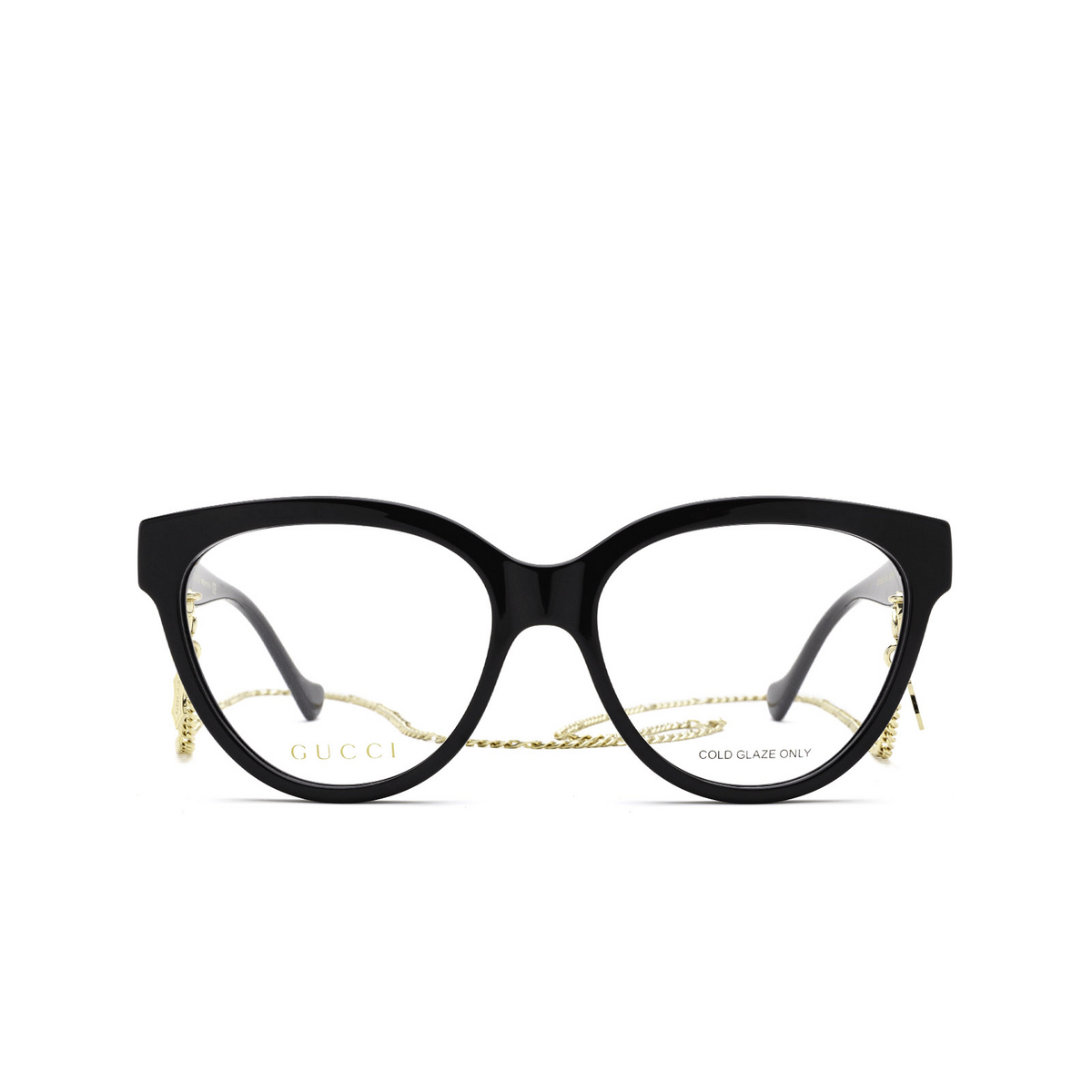 Gucci® Oval Eyeglasses: GG1024O color Black 006 - front view.