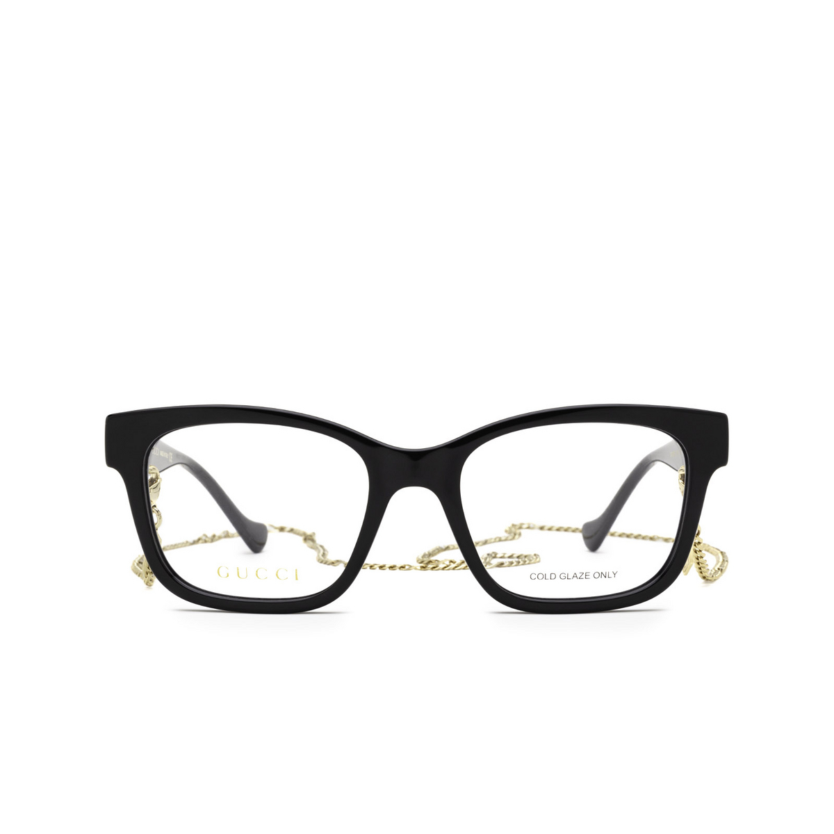 Gucci® Square Eyeglasses: GG1025O color Black 003 - front view.