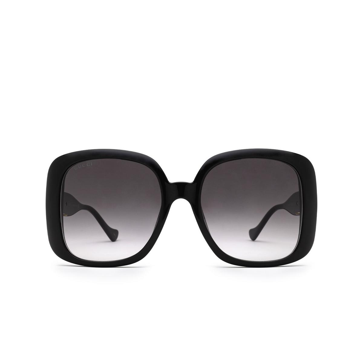 Gucci® Square Sunglasses: GG1029SA color Black 001 - front view.