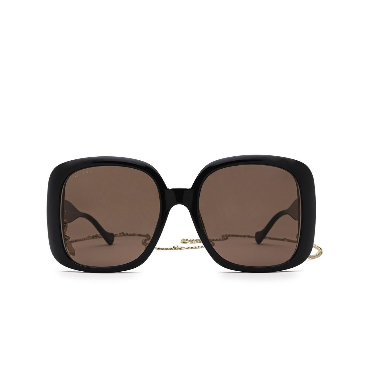Gucci® Square Sunglasses: GG1029SA color Black 005 - front view.