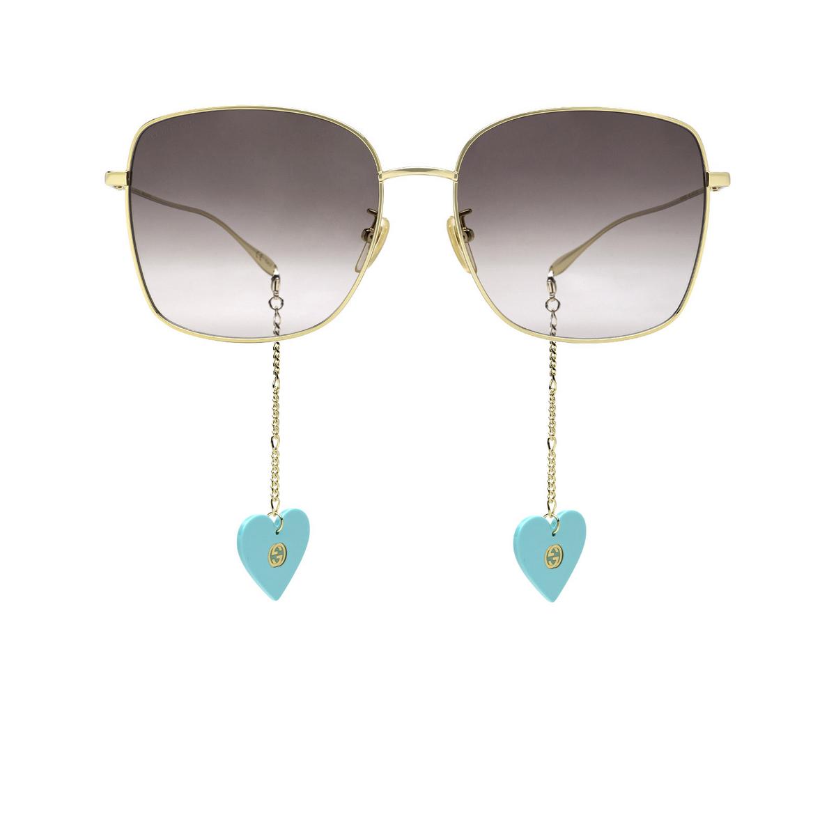 Gucci® Square Sunglasses: GG1030SK color Gold 003 - front view.