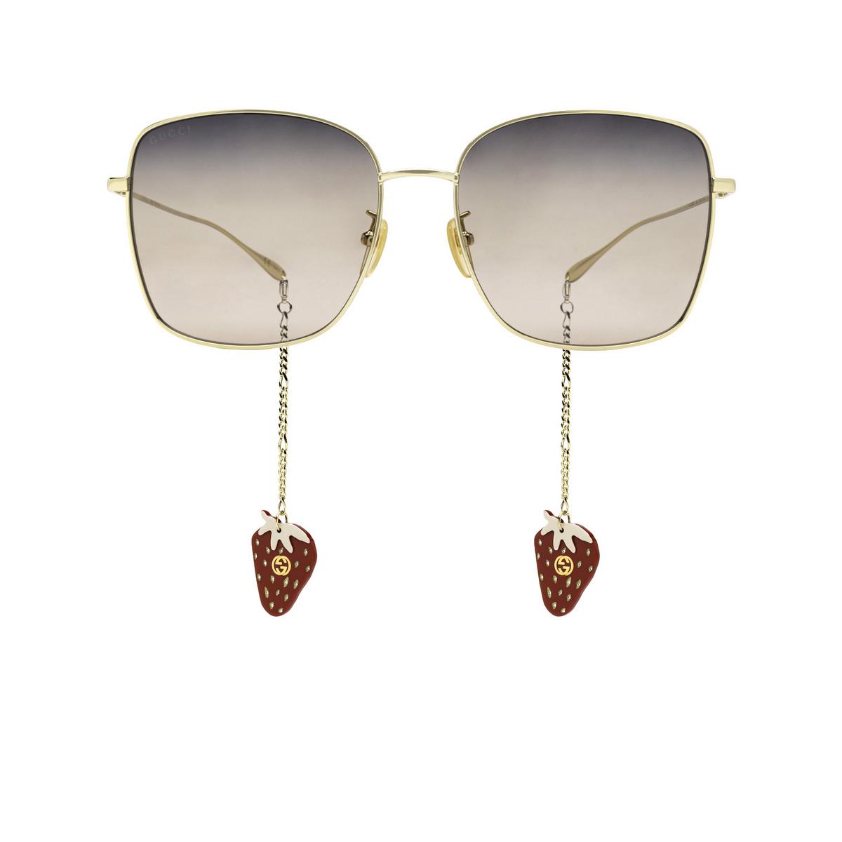 Gucci® Square Sunglasses: GG1030SK color Gold 005 - front view.