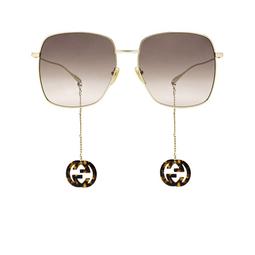 Gucci® Square Sunglasses: GG1031S color Gold 003.
