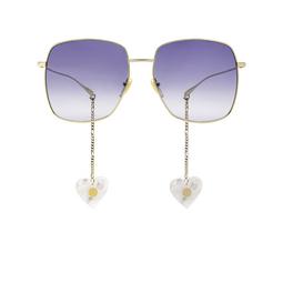 Gucci® Square Sunglasses: GG1031S color Gold 004.
