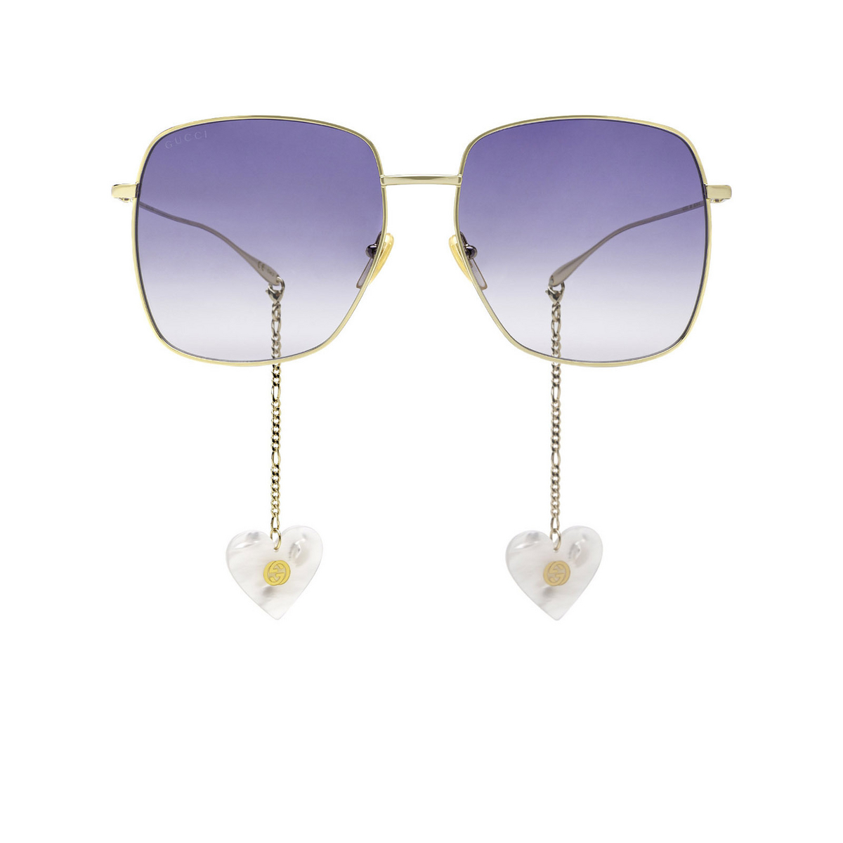 Gucci® Square Sunglasses: GG1031S color Gold 004 - front view.