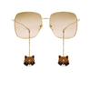 Gucci® Square Sunglasses: GG1031S color Gold 005 - product thumbnail 1/4.