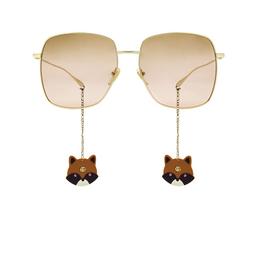 Gucci® Square Sunglasses: GG1031S color Gold 005.