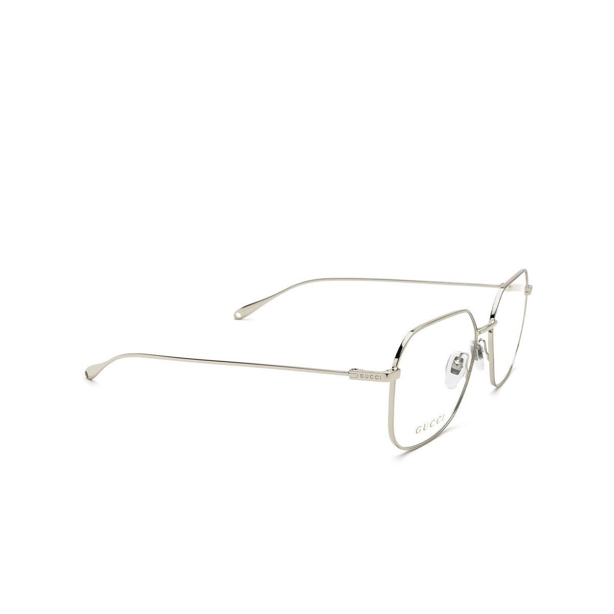 Gucci® Square Eyeglasses: GG1032O color Silver 003 - three-quarters view.