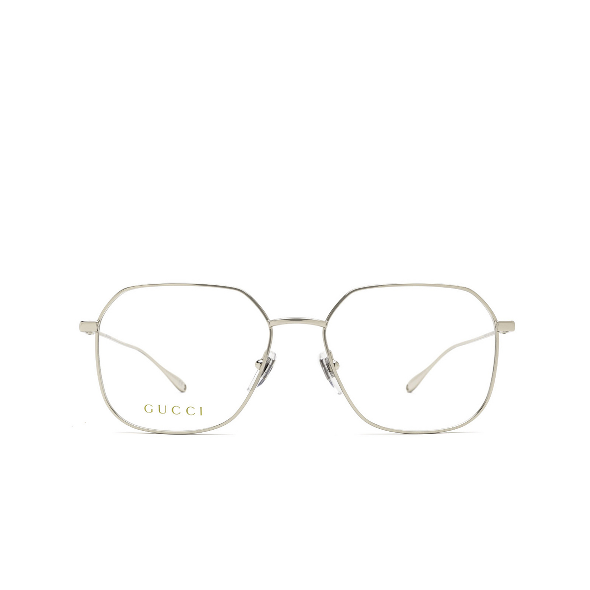 Gucci® Square Eyeglasses: GG1032O color Silver 003 - front view.