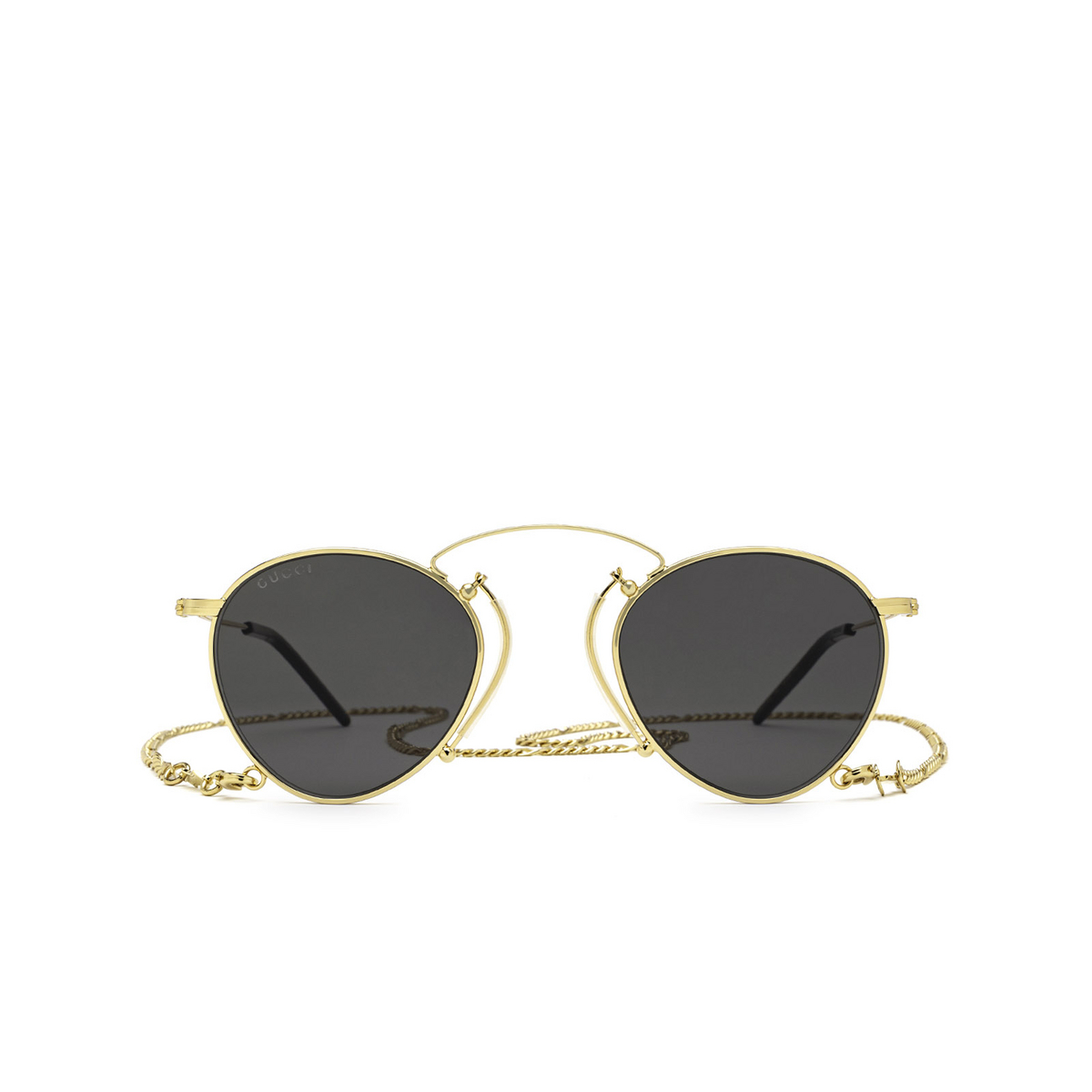 Gucci® Round Sunglasses: GG1034S color Gold 002 - front view.