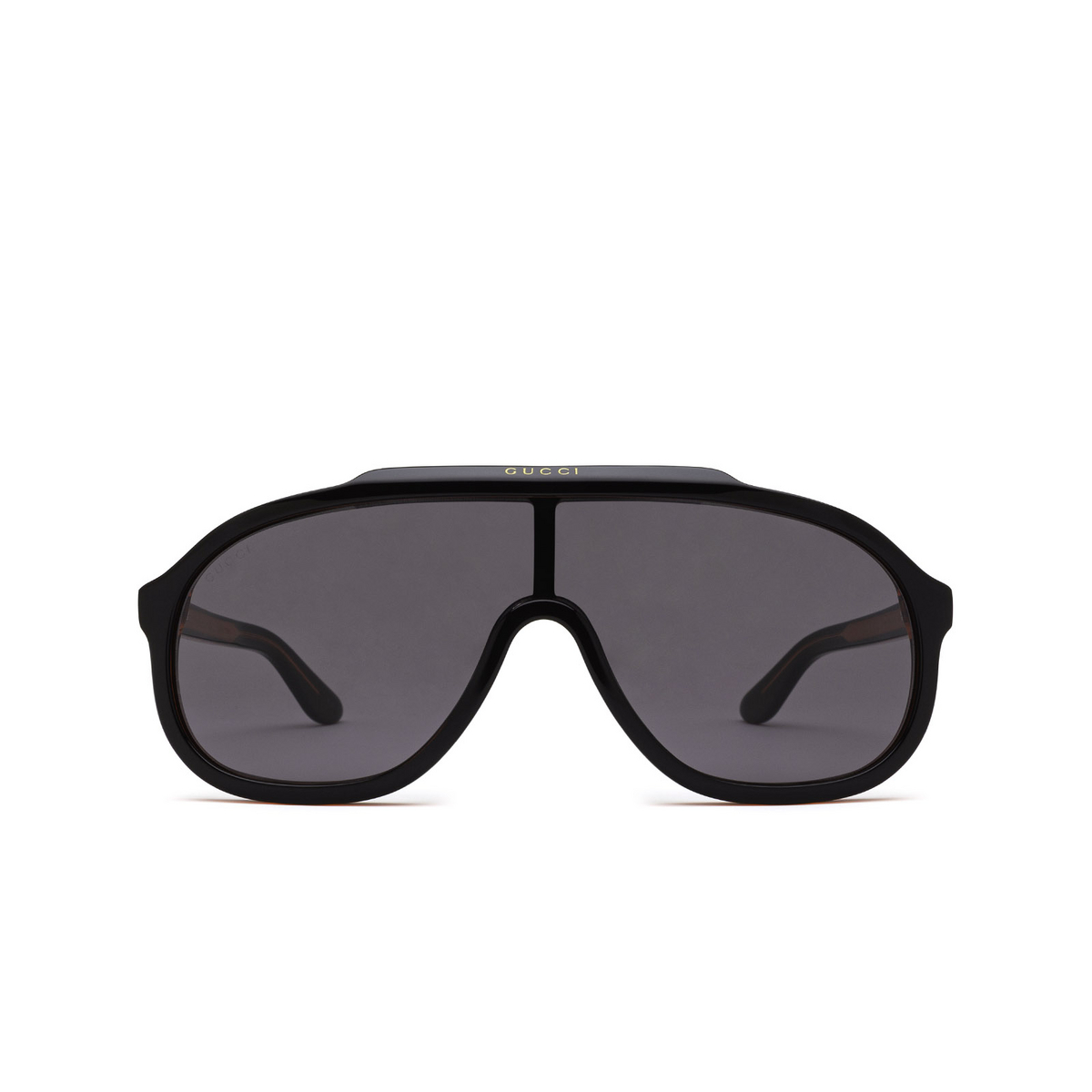 Gucci® Mask Sunglasses: GG1038S color Black & Red 001 - front view.