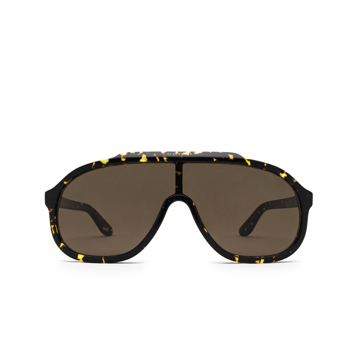 Gucci® Mask Sunglasses: GG1038S color Havana 002 - front view.