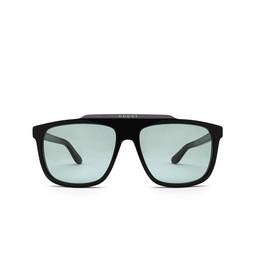 Gucci® Square Sunglasses: GG1039S color Black & Green 004.