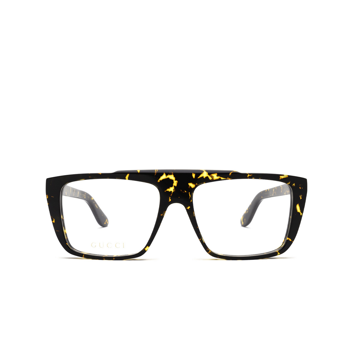 Gucci® Square Eyeglasses: GG1040O color Havana 002 - front view.