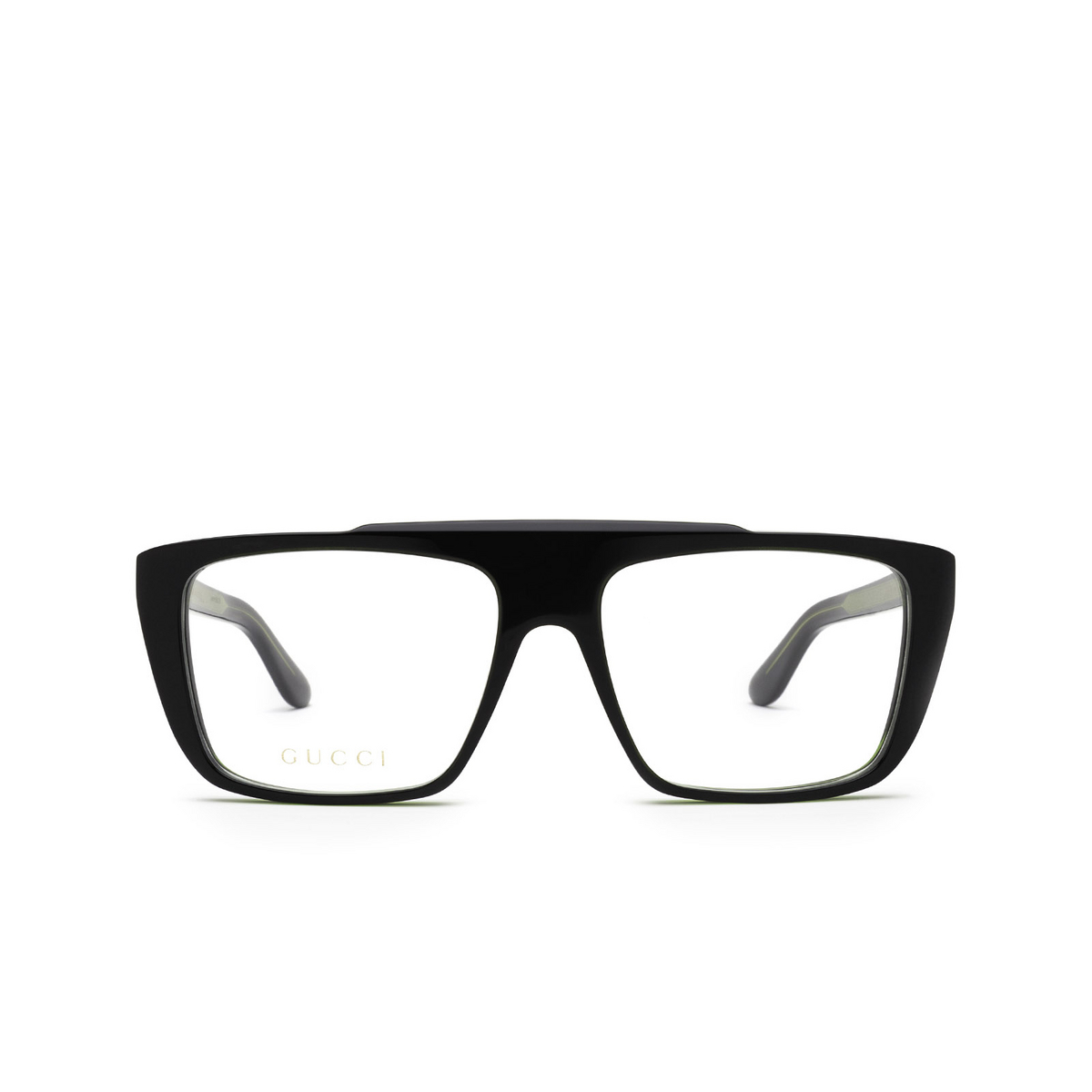 Gucci® Square Eyeglasses: GG1040O color Green & Black 003 - front view.